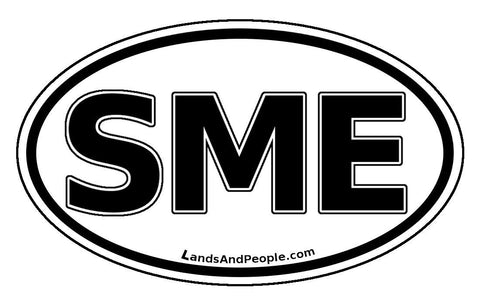 SME Suriname Car Bumper Sticker Decal