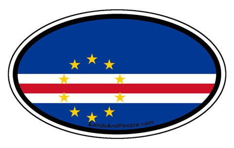 Cape Verde Cabo Verde Flag Sticker Oval
