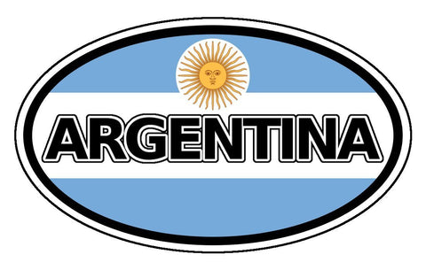 Argentina Flag Car Bumper Sticker Decal