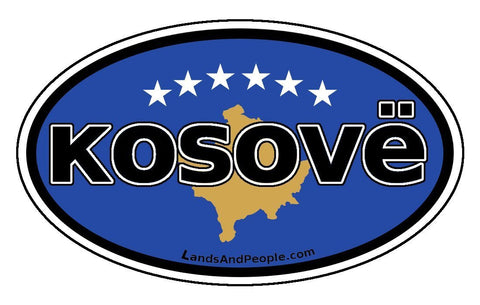 Kosovë Kosovo Flag Sticker Oval