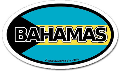 Bahamas Flag Car Sticker