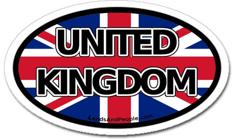 United Kingdom Flag Sticker Oval