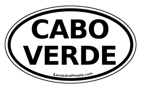 Cape Verde Cabo Verde Sticker Oval