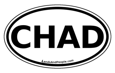 Chad Sticker Oval Black and White