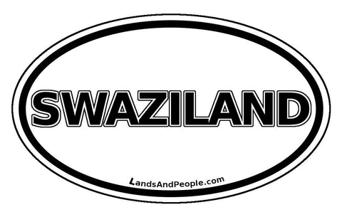 Swaziland Car Bumper Sticker Decal