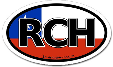 RCH República de Chile in Spanish Car Bumper Sticker Decal