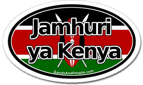 Jamhuri ya Kenya Republic of Kenya in Swahili Car Sticker