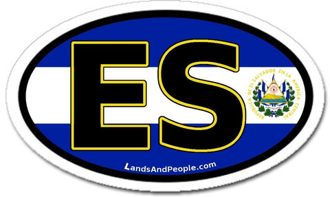 ES El Salvador Flag Car Bumper Sticker Decal