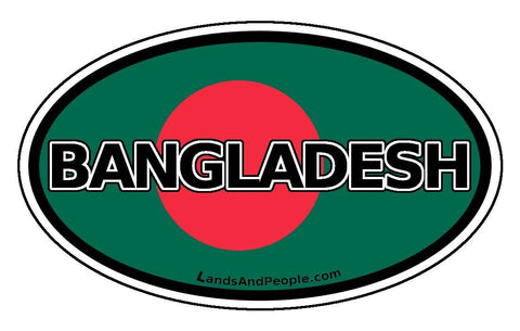 Bangladesh Flag Sticker Oval