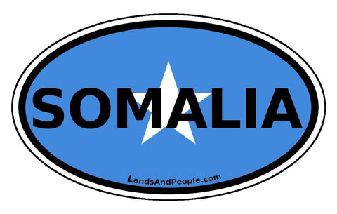 Somalia Car Bumper Sticker Decal Oval
