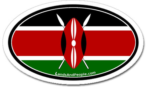 Kenya Flag Car Bumper Sticker Decal