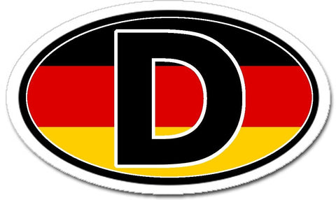 D Germany German Flag Sticker Oval