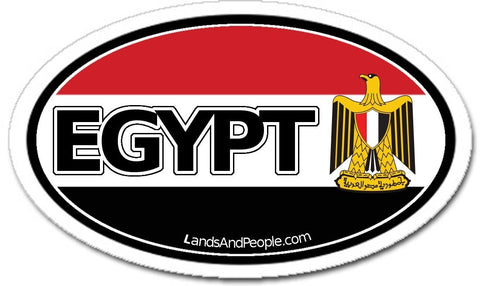 Egypt Car Bumper Sticker Decal Oval