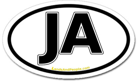 Jamaica Car Bumper Sticker Decal