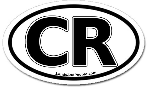 CR Costa Rica Car Bumper Sticker Decal