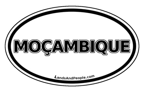 Moçambique Mozambique Sticker Oval
