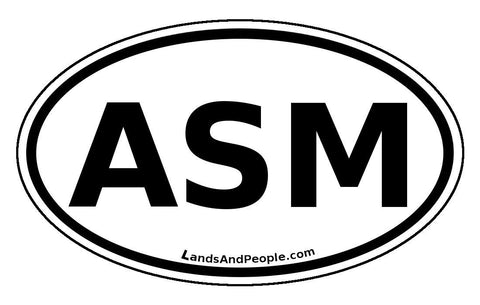 ASM American Samoa Car Bumper Sticker Decal