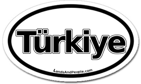 Türkiye Turkey Car Bumper Sticker Oval Black and White