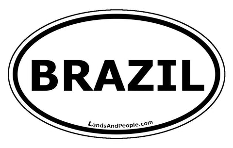 Brazil Car Bumper Sticker Decal