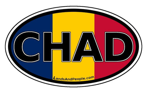Chad Flag Sticker Oval
