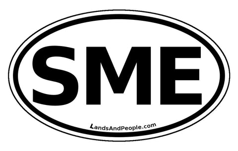 SME Surinam Car Bumper Sticker Decal