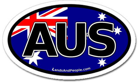 AUS Australia Flag Car Bumper Sticker Decal