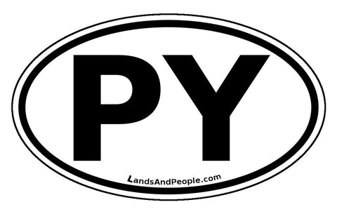 PY Paraguay Car Bumper Sticker Decal