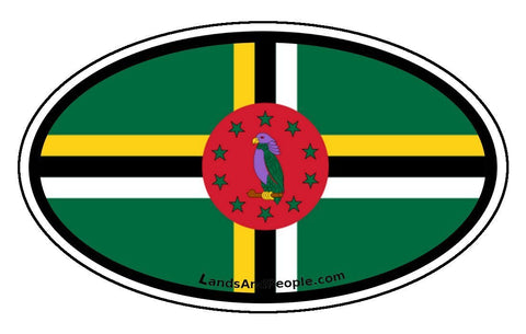 Dominica Flag Car Bumper Sticker Decal