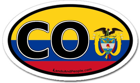 CO Colombia Flag Car Bumper Sticker Decal