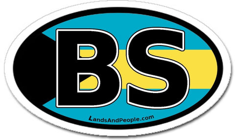 BS Bahamas Flag Car Sticker
