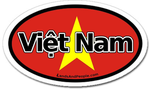 Việt Nam Vietnam Flag Sticker Oval