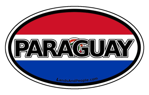 Paraguay Car Bumper Sticker Decal Oval