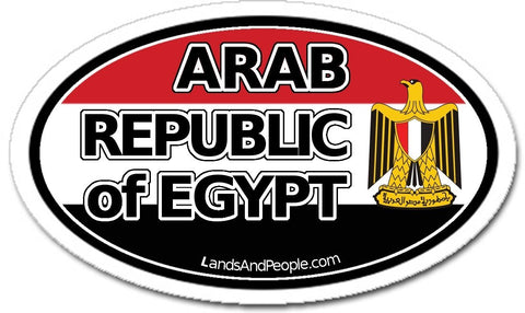Arab Republic of Egypt Sticker Decal Oval