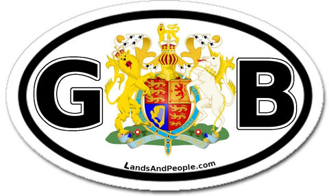 GB Great Britain Sticker Oval