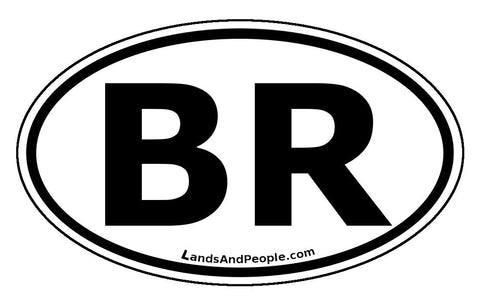 BR Brazil Car Bumper Sticker Decal