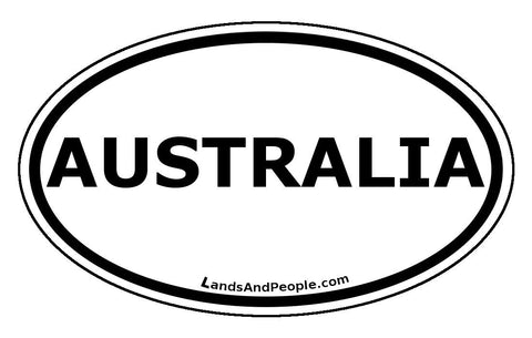Australia Car Bumper Sticker Decal