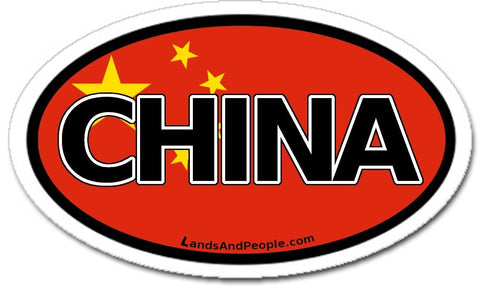 China Chinese Flag Car Sticker Oval