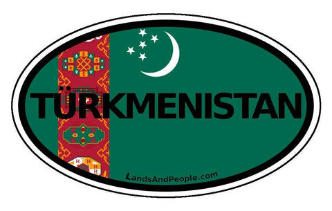 Turkmenistan Sticker Oval