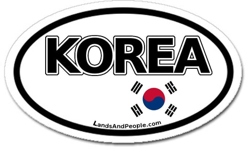 South Korea Flag Sticker Oval