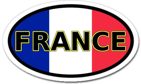 France flag car bumper vinyl sticker decal oval