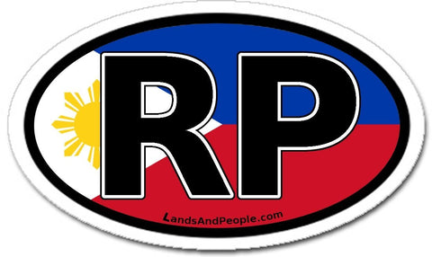 RP Republic of the Philippines Sticker Oval