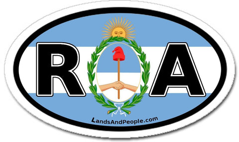 RA República Argentina in Spanish Car Bumper Sticker Decal