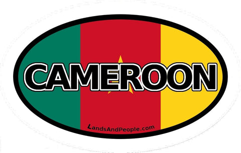 Cameroon Flag Sticker Oval