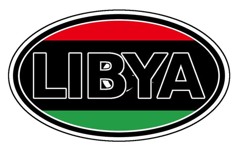 Libya Car Bumper Sticker Decal Oval