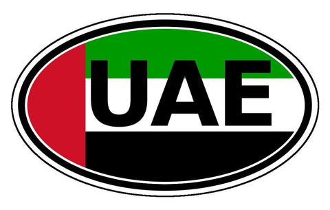 UAE United Arab Emirates Sticker Oval