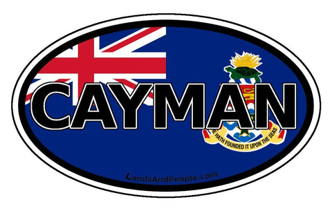 Cayman Islands Car Bumper Sticker Decal