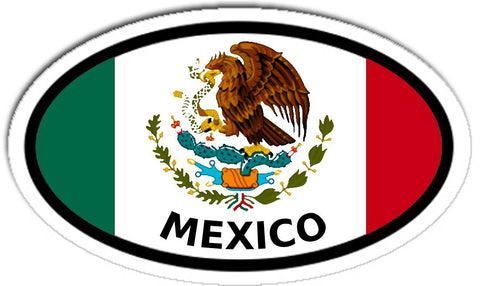 Mexico Flag Car Bumper Sticker Decal