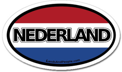 Nederland Netherlands Holland Flag Sticker Oval