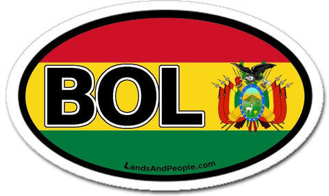 BOL Bolivia Flag Car Bumper Sticker