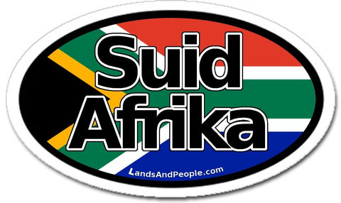 Suid Afrika Afrikaans South Africa Flag Car Sticker Oval